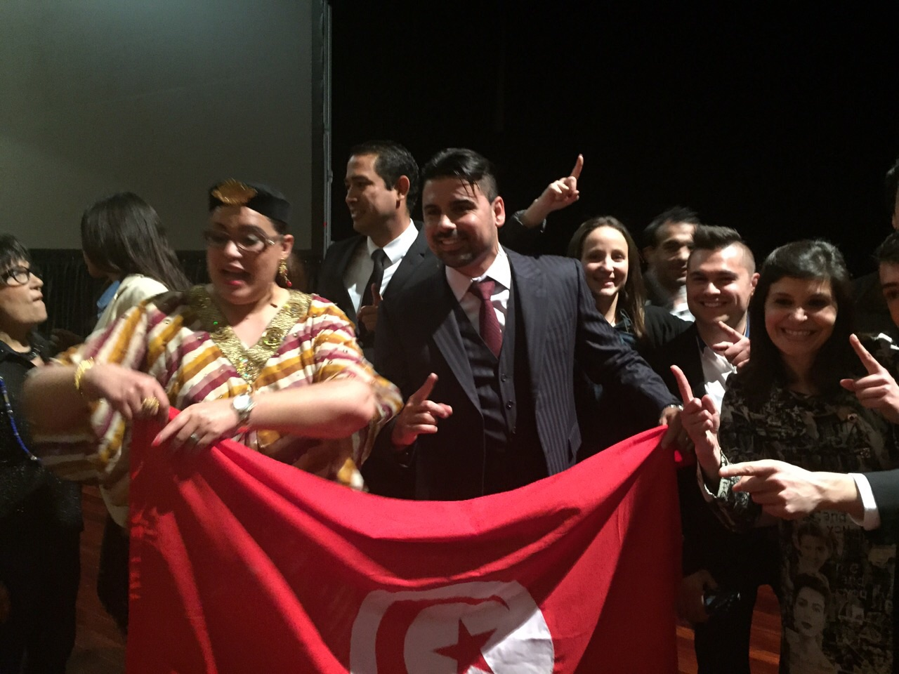 Con promotores de Tunez