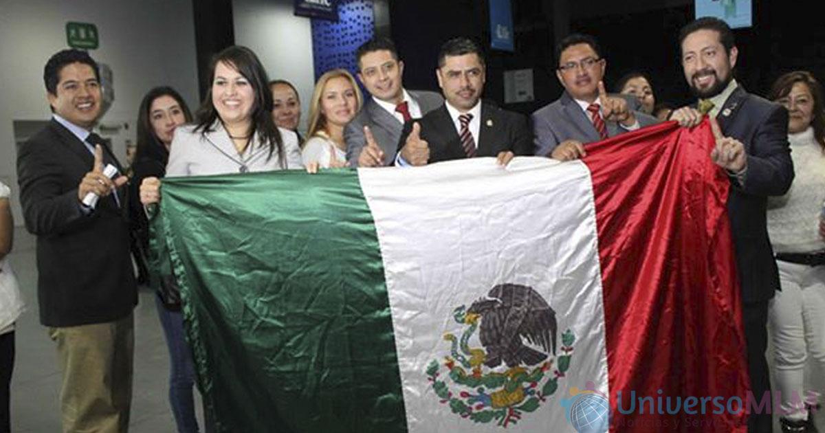 La bandera de México, siempre presente en el evento