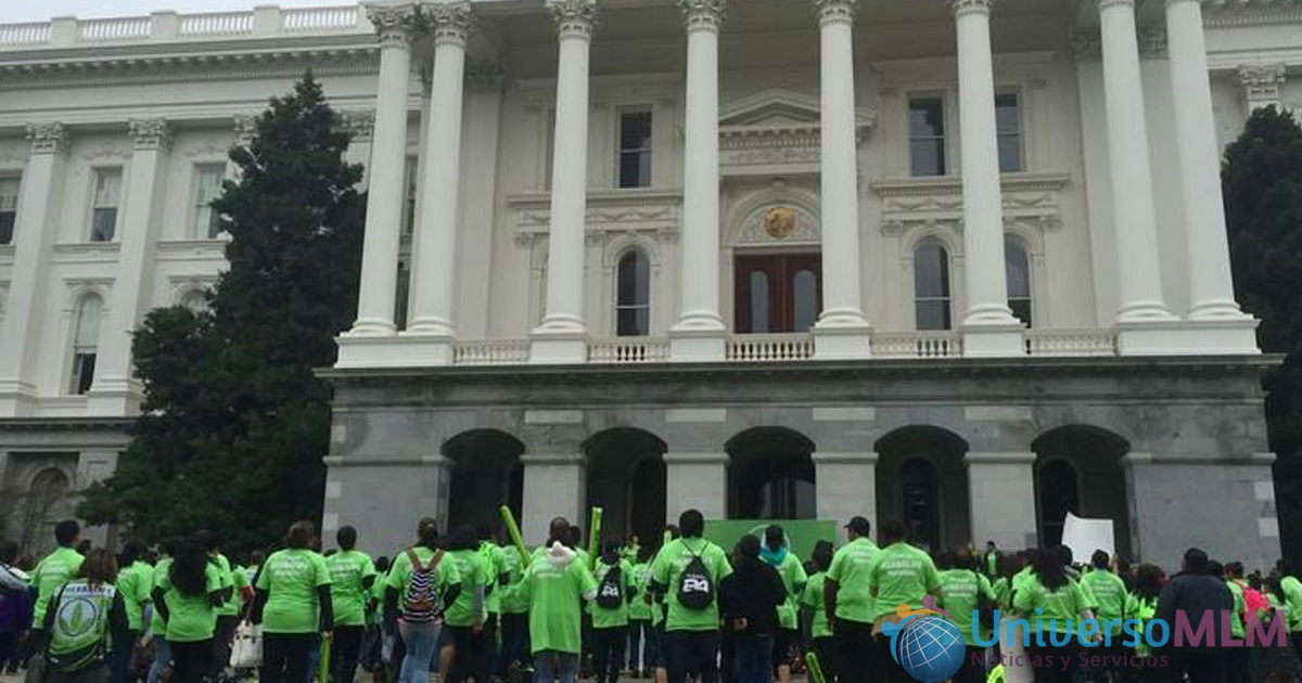 Protesta en la puerta del Capitolio