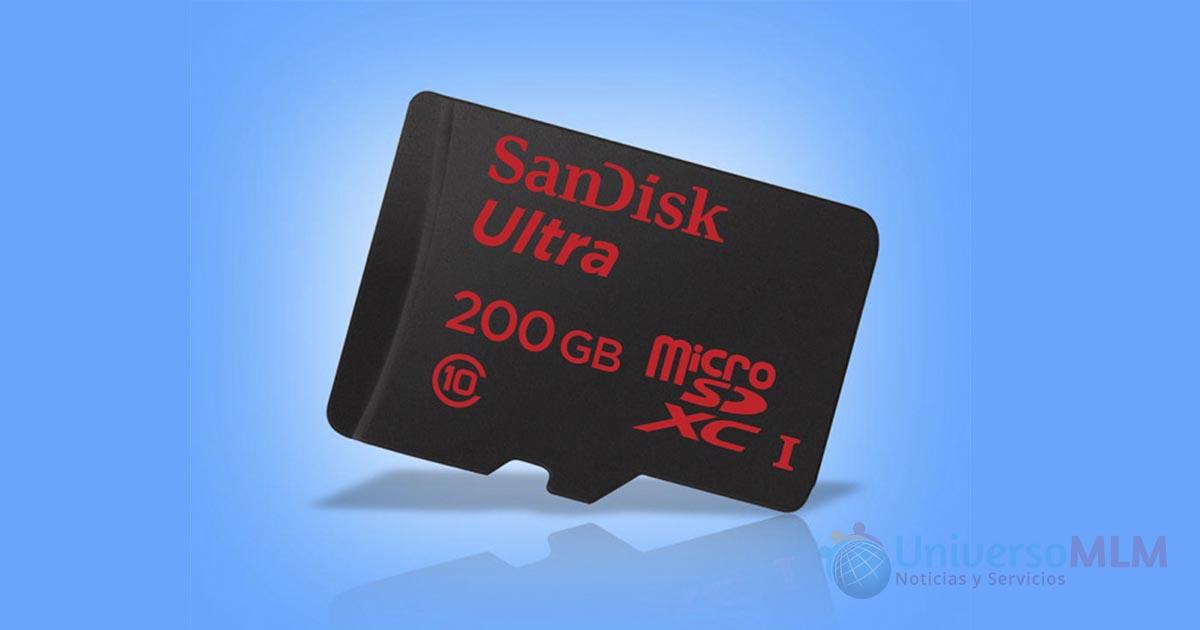 MicroSD de SanDisk de 200GB
