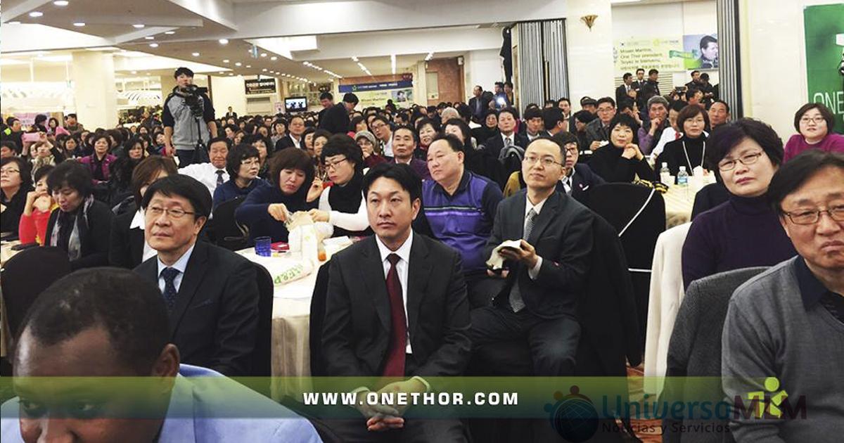 Distribuidores de OneThor en el evento de Corea del Sur
