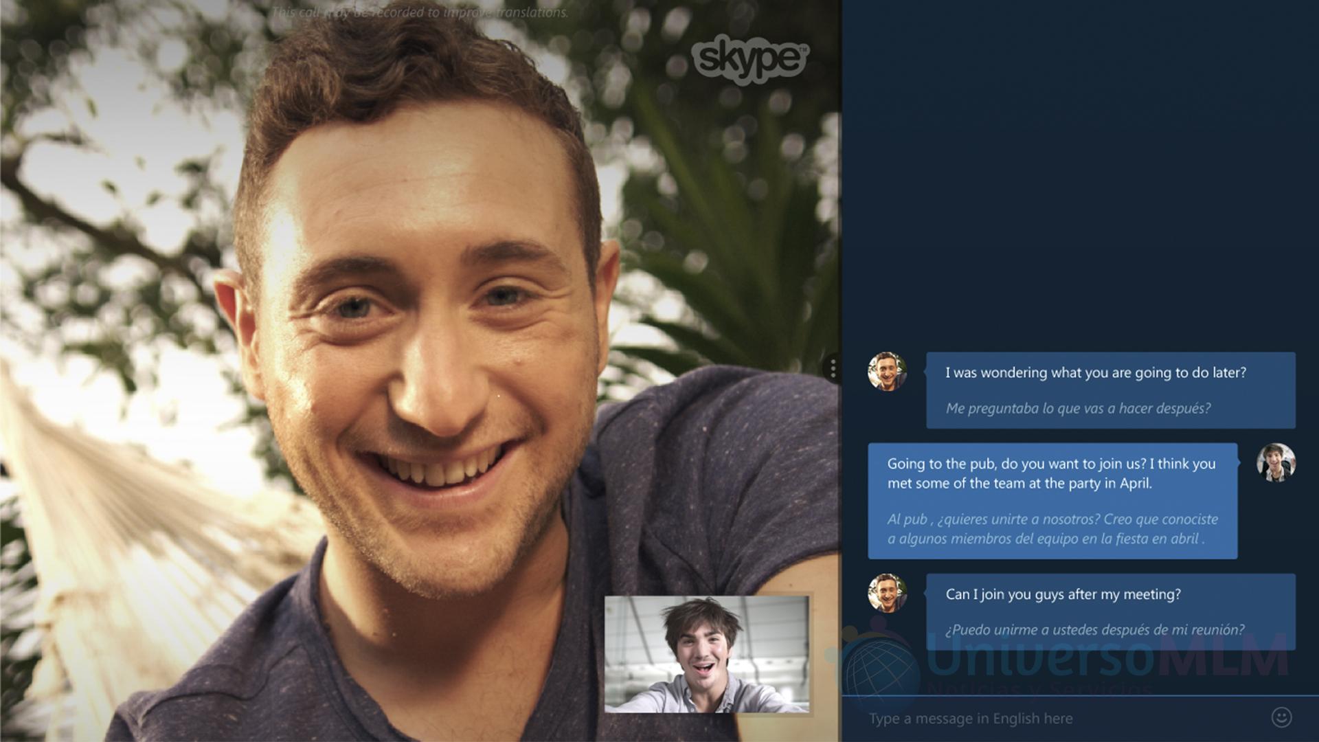 Conversación con Skype Translator
