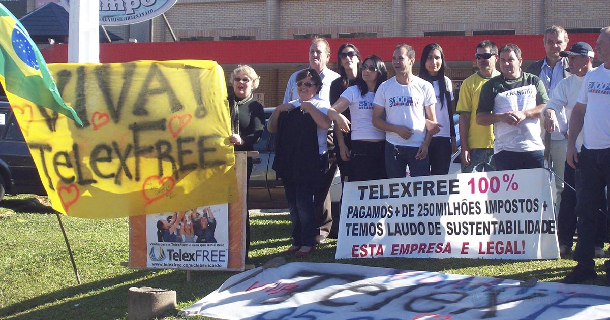 Protesta a favor de TelexFREE