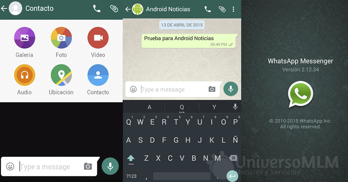 Nueva versión de WhatsApp