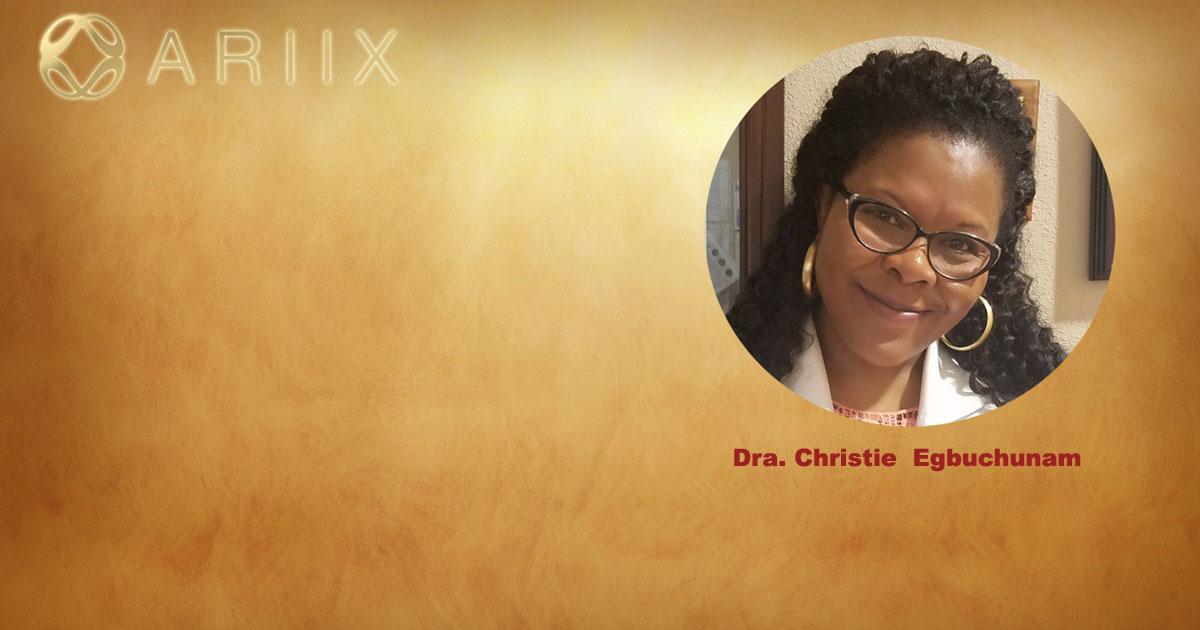 Christie Egbuchunam, miembro del Consejo de bienestar ARIIX