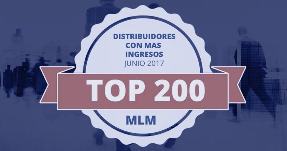 Generales: Top 200 de los distribuidores con más ingresos en el mercado multinivel