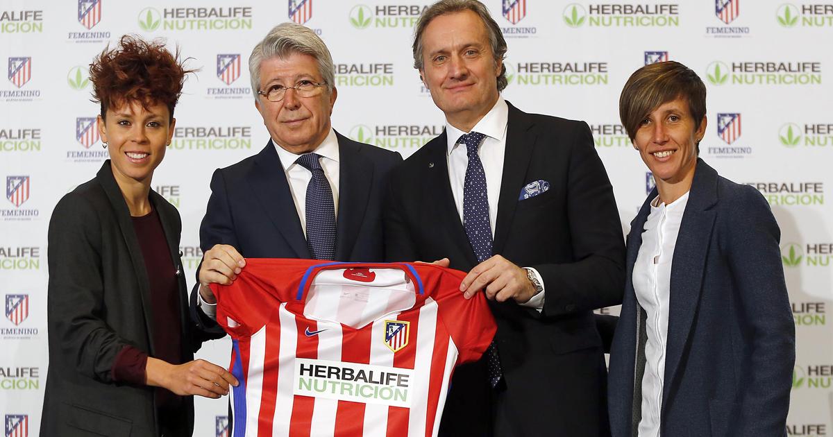 Herbalife, patrocina al Atlético de Madrid femenino