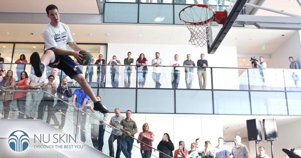 Los Utah Jazz de la NBA presentes en el evento de Nu Skin