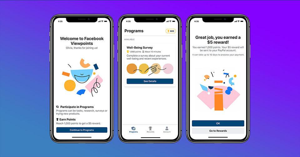 Actualidad: ¡INCREIBLE! Facebook lanza aplicación que te paga por responder encuestas