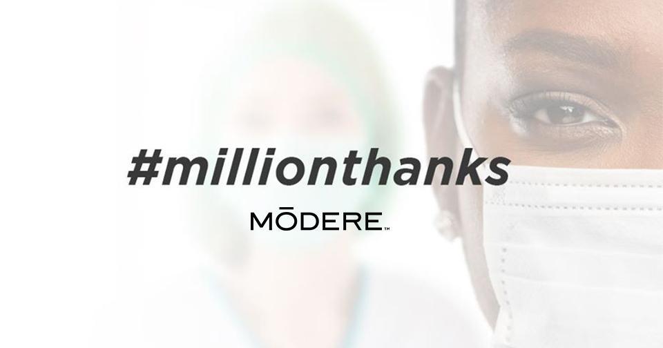 Empresas: Modere lanza la campaña UN MILLON DE GRACIAS en apoyo a la lucha contra el coronavirus