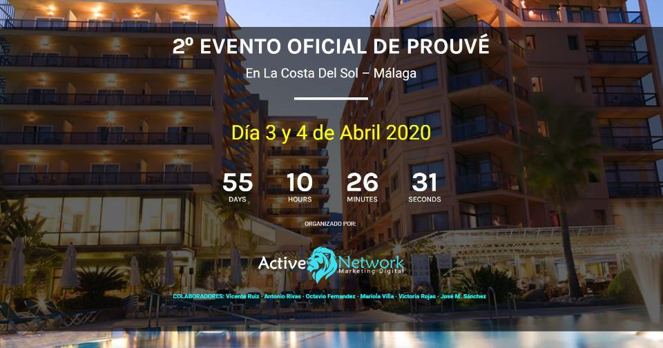 Actualidad: 2º Evento Oficial de PROUVÉ en España en la Costa del Sol - Málaga