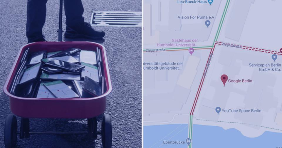 "Viral: Un artista del mundo digital ""hackeó"" a Google Maps"