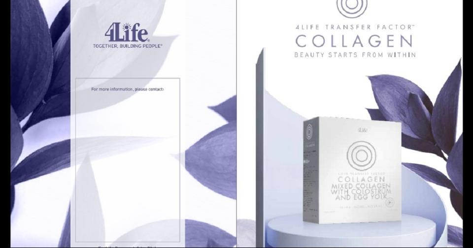 Empresas: 4Life Transfer Factor Collagen: el único suplemento de colágeno que fortalece el sistema inmune