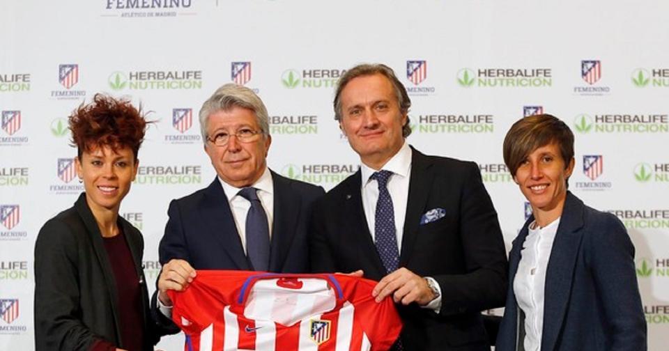 Empresas: Herbalife Nutrition renueva patrocinio con equipo de fútbol femenino Atlético de Madrid