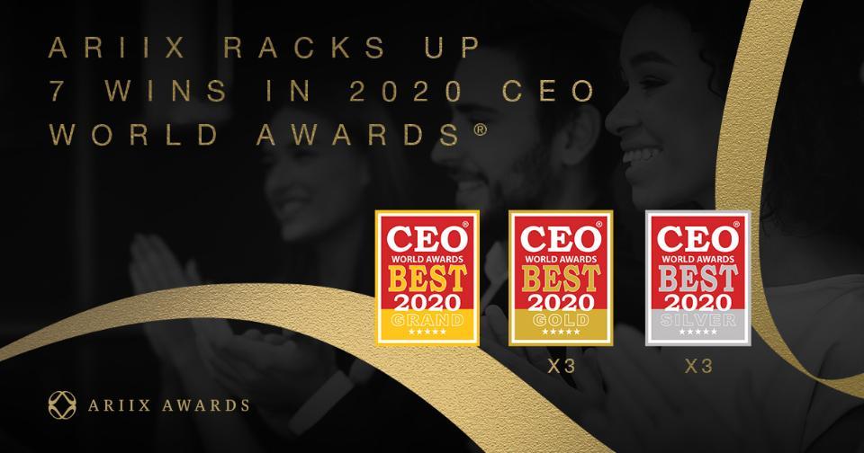Empresas: ARIIX reafirma la actitud emprendedora de sus líderes en los CEO World Awards 2020