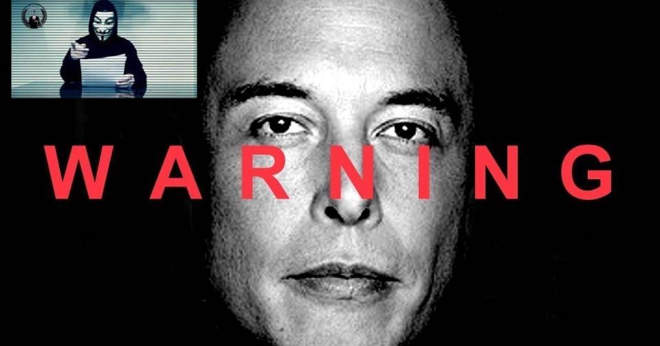 Viral: Anonymous acusa a Elon Musk de mentiroso