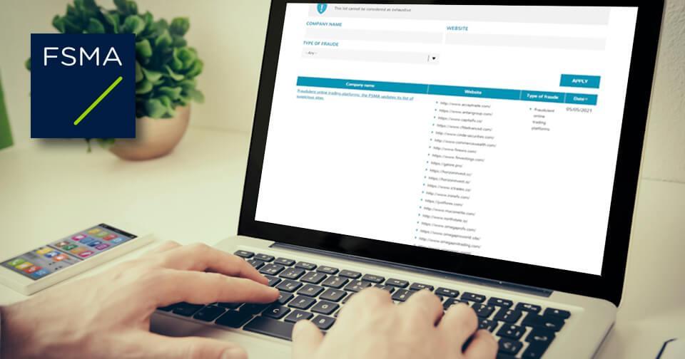 Generales: FSMA incluye nuevos sitios web fraudulentos en su lista de advertencias