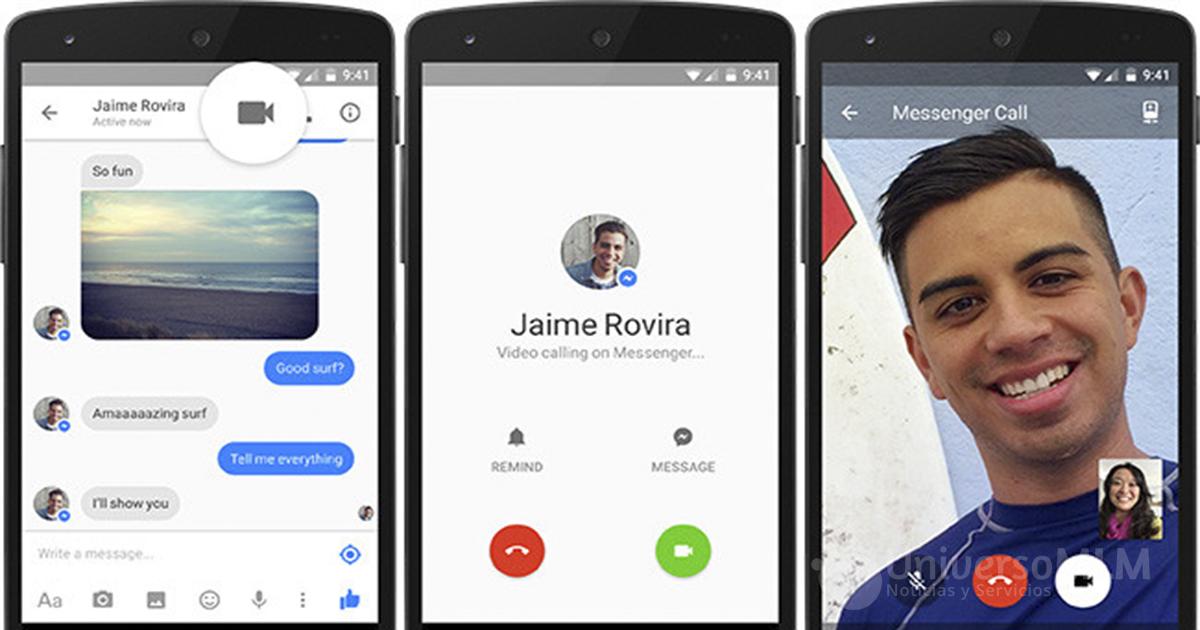 Messenger de Facebook estrena llamadas de vídeo