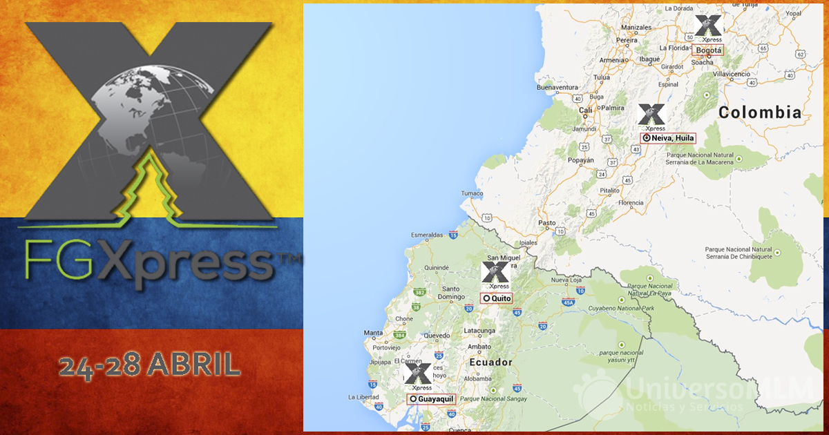 Mapa de eventos de FGXpress