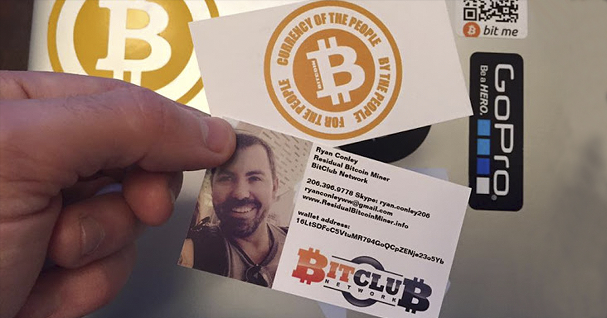 Ryan Conley es la cara visible de BitClub Network en Internet