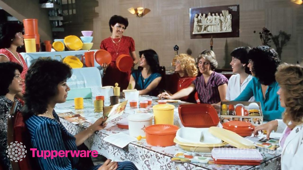 Reunión Tupperware en los años 70