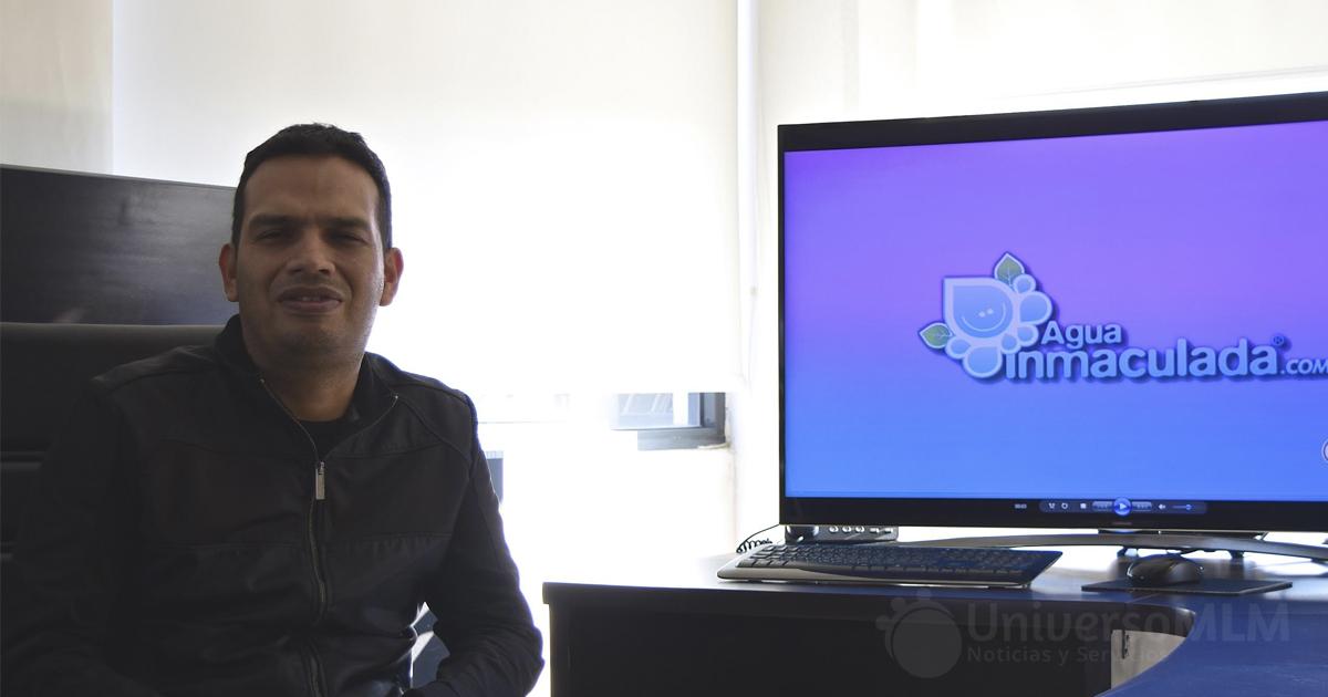 Eymard Argúello, fundador y CEO de Agua Inmaculada