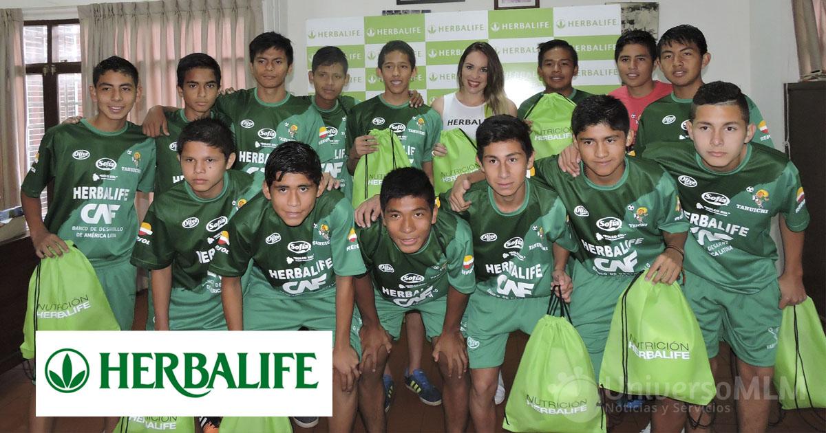 Selección boliviana sub-15 de fútbol también fue patrocinada por Herbalife