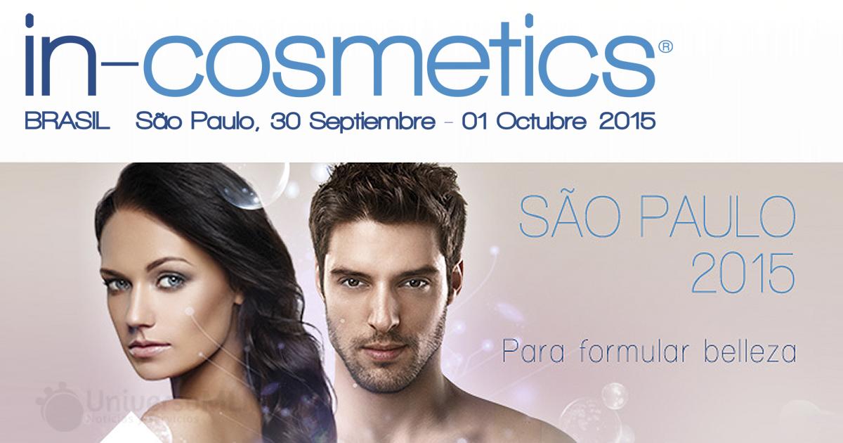 Cartel anunciador del evento dedicado a los productos cosméticos