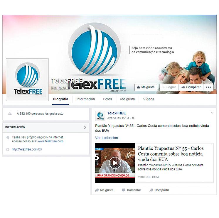 Publicación de la noticia en la página oficial de Facebook de la compañía