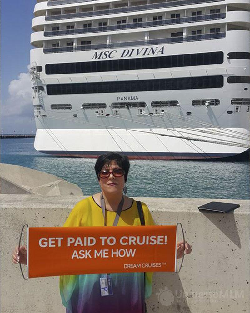 Gisela-Fick, líder sudafricana de in Cruises durante el trayecto