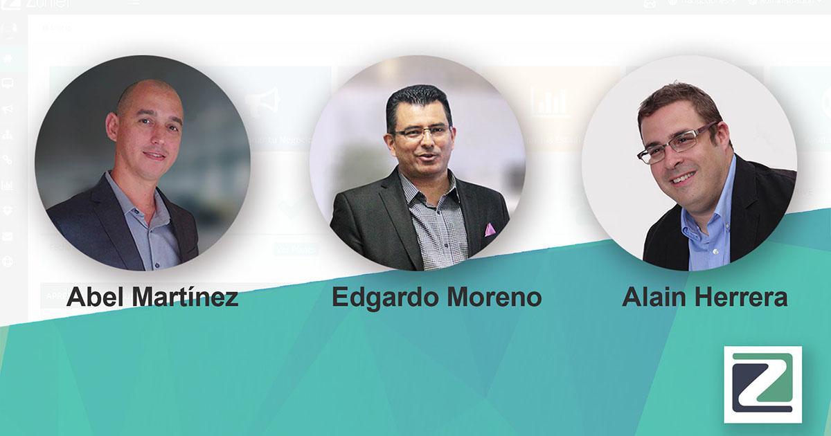 Directivos de la empresa que participaron en el evento de lanzamiento