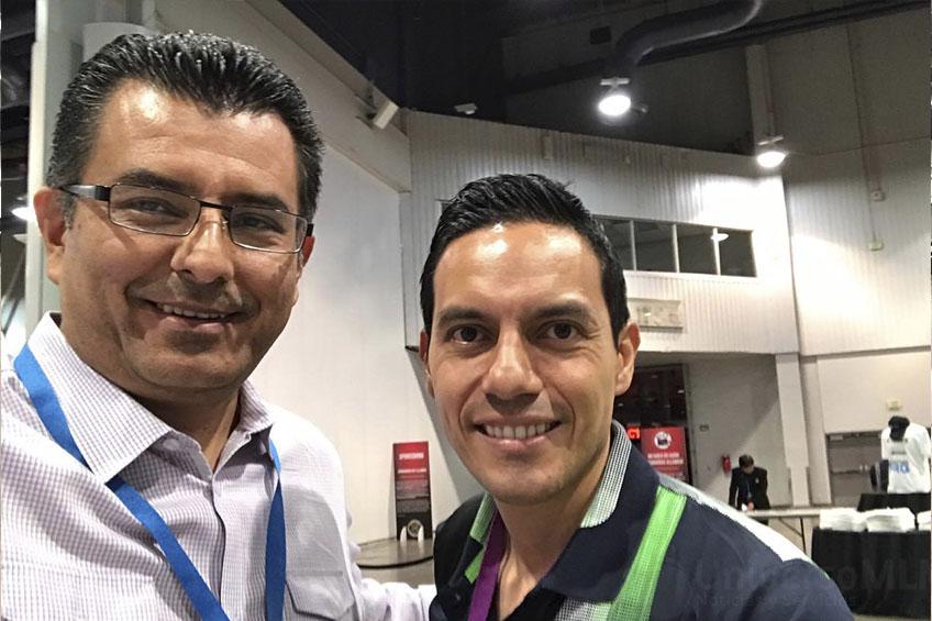 Edgardo Moreno y Pablo Paucar