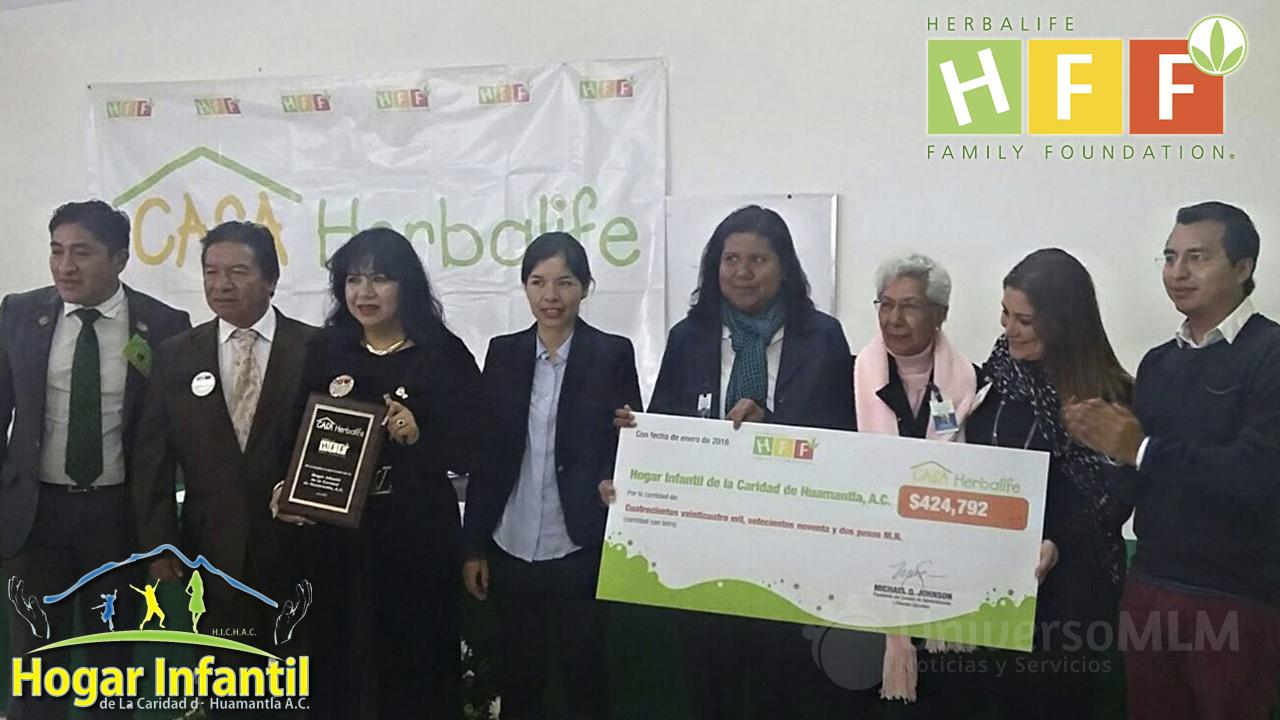 Herbalife entrega el donativo al Hogar Infantil de la Caridad de Huamantla