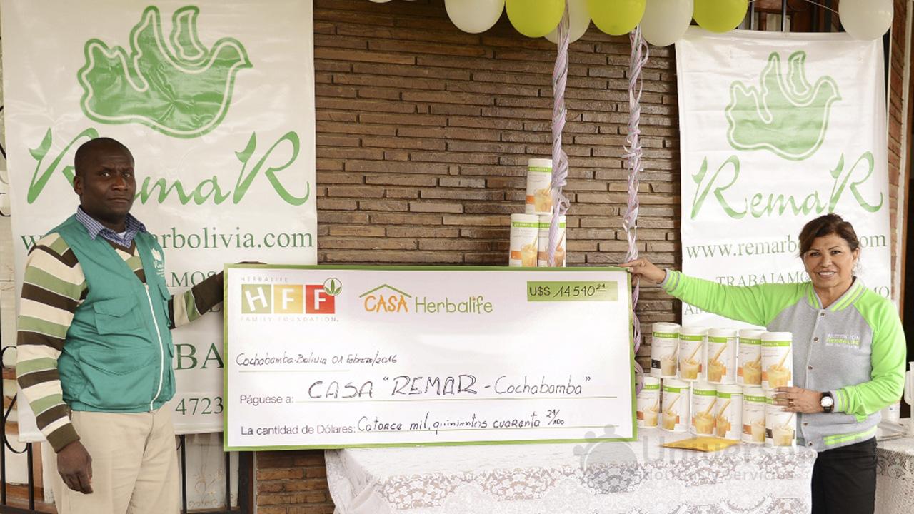 Donativo de Herbalife a Remar