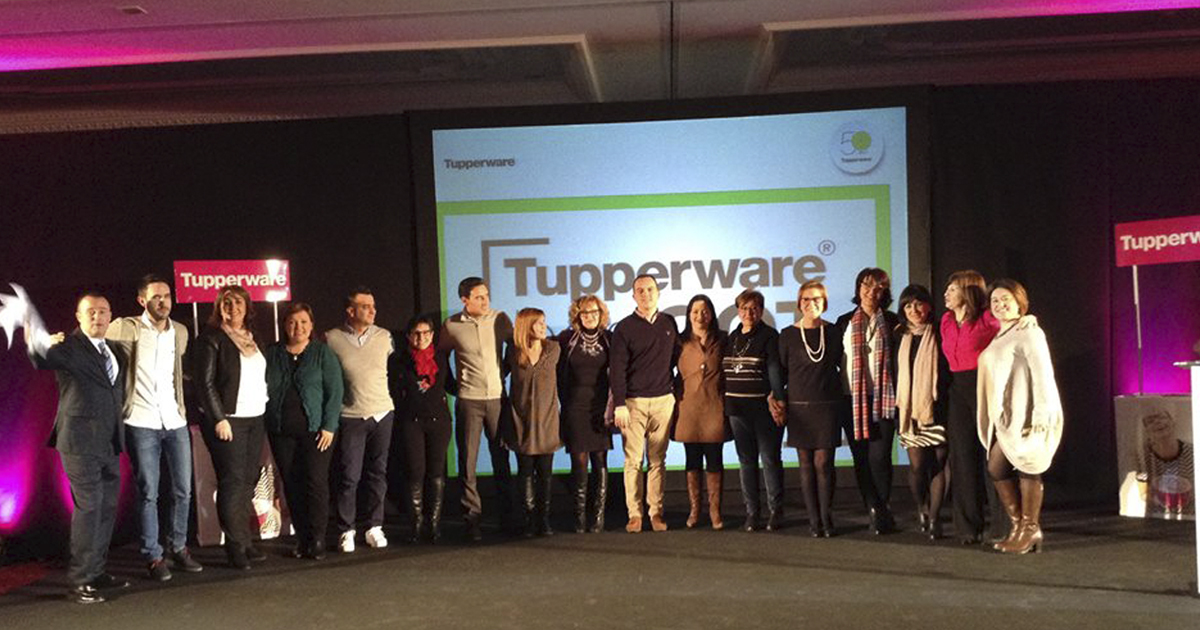 Algunos de los líderes de Tupperware España