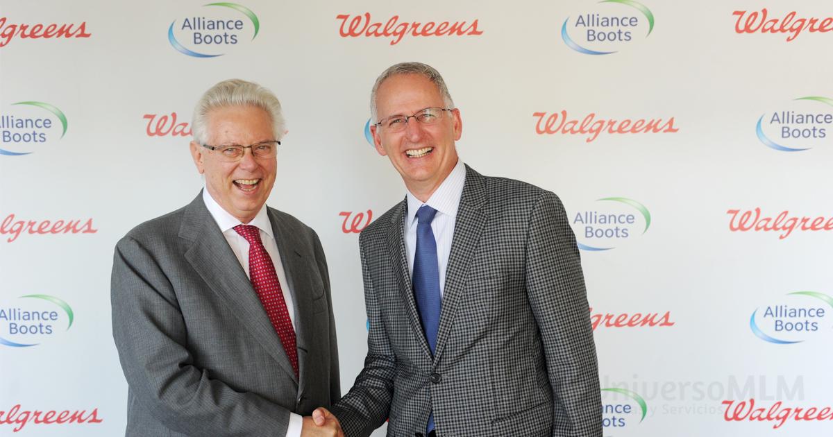 El Presidente Ejecutivo de Boots, Stefano Pessina y el presidente y CEo de Walgreens, Greg Wasson