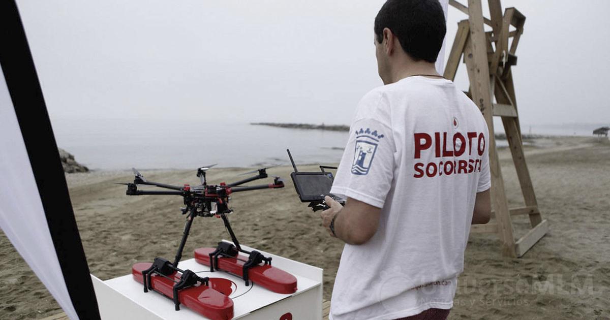 Drones socorristas en las playas de España