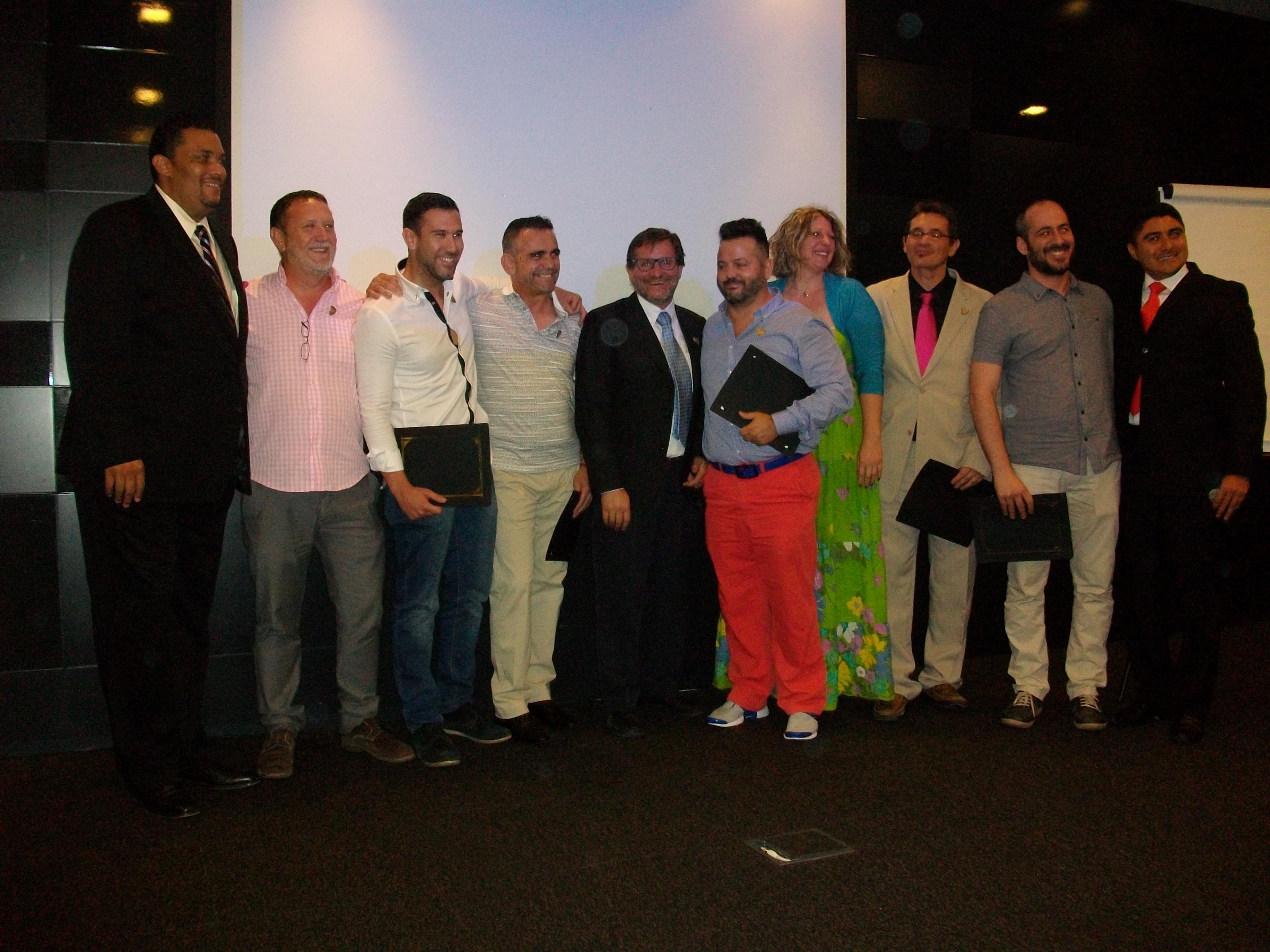 Líderes de FGV con Raúl Serrano y Miguel Cabañas