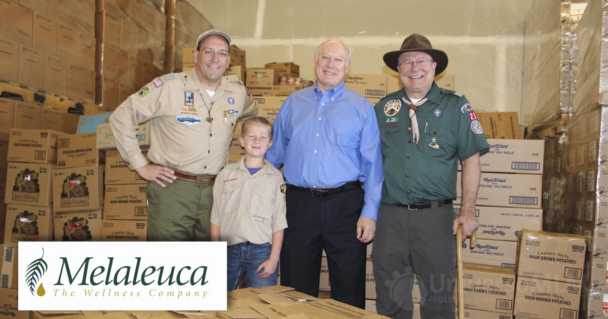 Los Scouts reciben constantemente un gran apoyo de Melaleuca