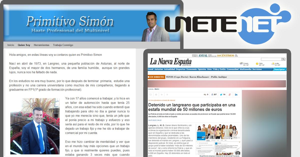 El blog personal de Primitivo Simón y el artículo del periódico asturiano