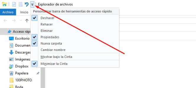 Personaliza la barra de herramientas