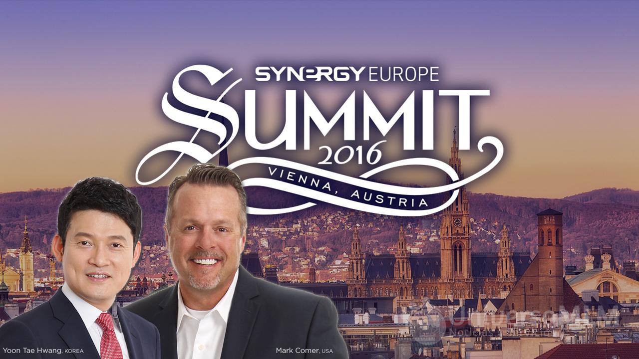 Yun Tae Hwang y Mark Comer en la Cumbre Europea de Synergy