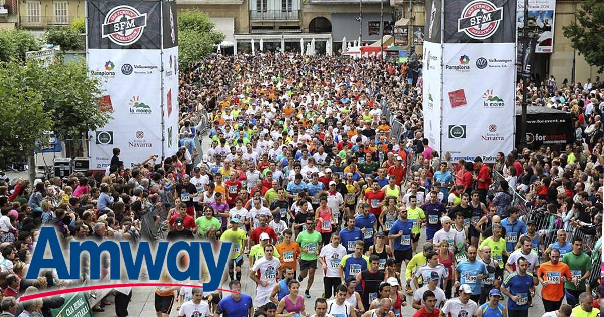 Miles de personas participan el sábado en la Marathon que se celebrará en Pamplona