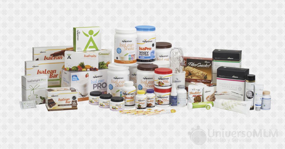 La gama de productos de Isagenix
