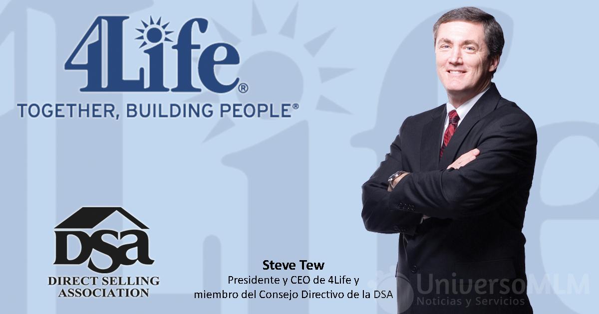 Steve Tew, presidente y CEO de 4Life y miembro del Consejo Directivo de la DSA