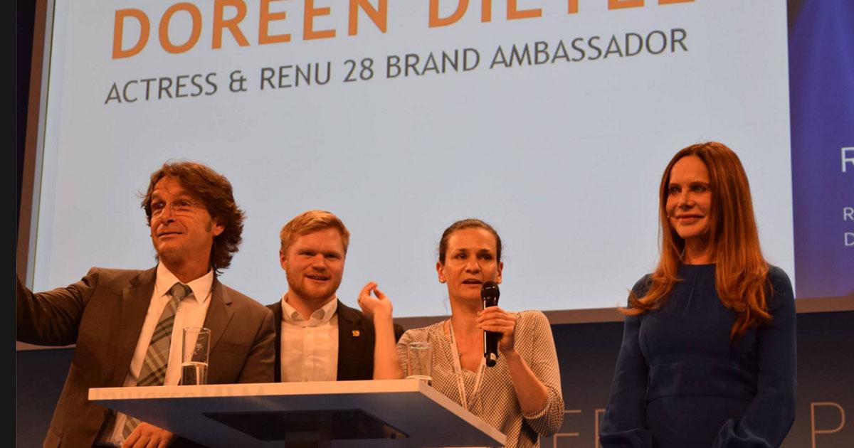 Doreen Dietel, actriz alemana, en el evento de ASEA en Munich