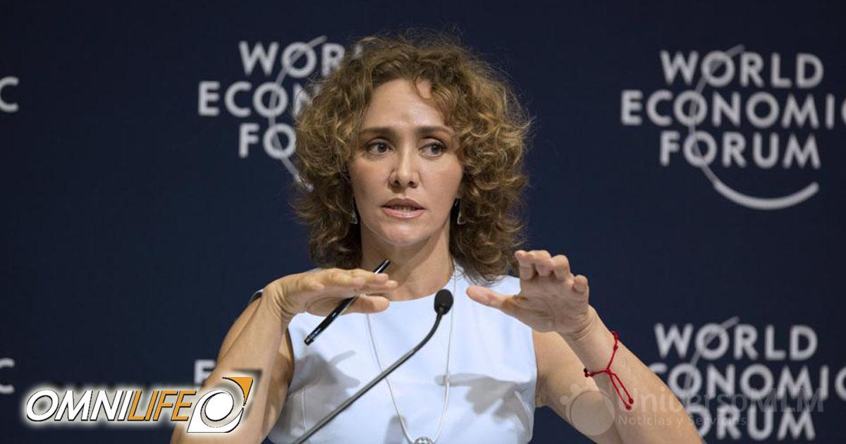 Angélica Fuentes en el Foro Económico Mundial