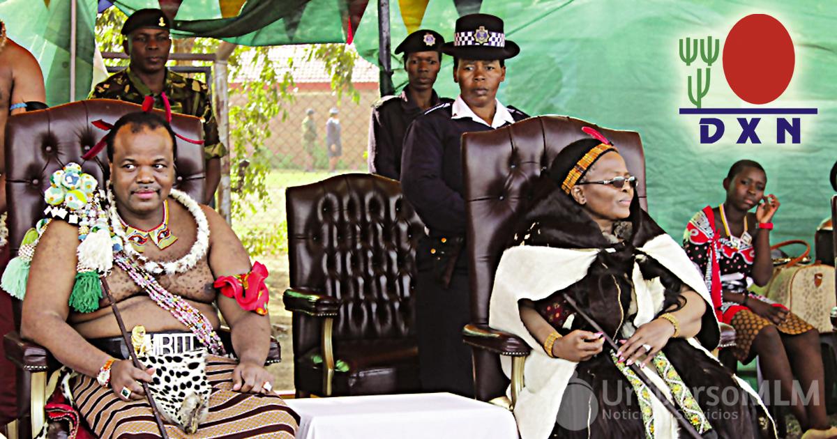 Los monarcas de Swazilandia