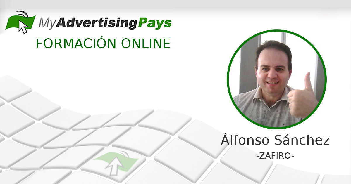Alfonso Sánchez, Zafiro en My Advertising Pays