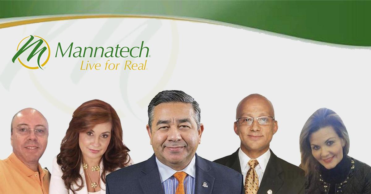 Alfredo Bala, CEO de Mannatech, con los ponentes del tour